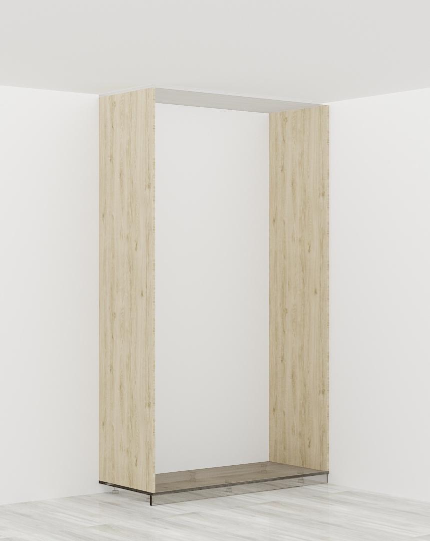 2 x bok szafy z płyty meblowej