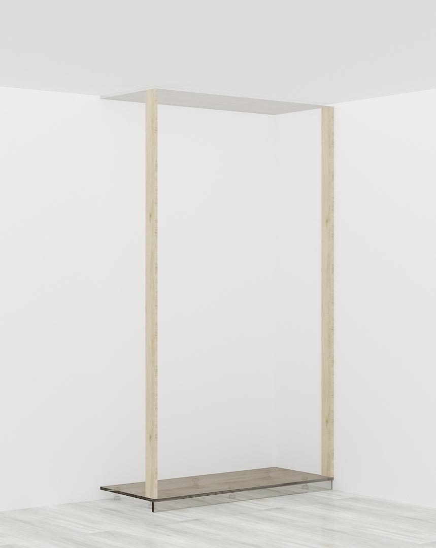 2 x listwa przymykowa (szafa w wnęce pomiędzy ścianami)