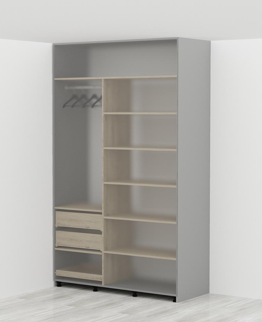 płyta MDF biała gr. 3,2 mm (wymaga podłogi, boków, zalecam dach szafy